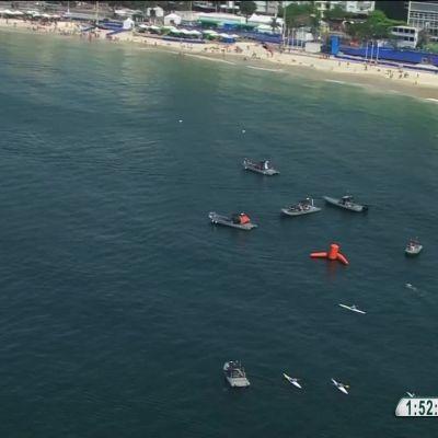 Rion olympialaiset: Naisten avovesiuinnissa todella tiukka mitalikamppailu