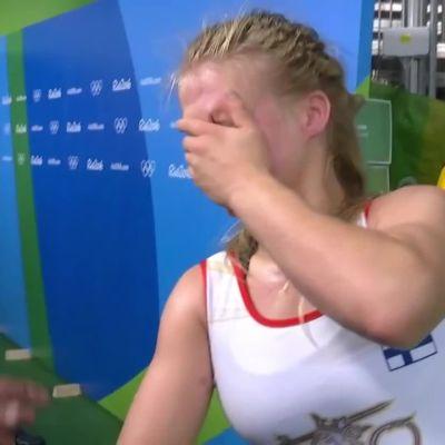 """Rion olympialaiset: Petra Olli murtui tappion jälkeen: """"Ihan järkyttävää"""""""