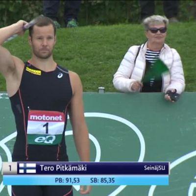 Urheilujuttuja: Pitkämäki täräytti 10 000 euron keihäskaaren!