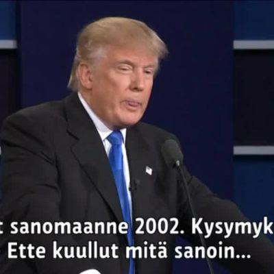 Uutisvideot: Trump ja Clinton kiistelivät johtajalle sopivasta temperamentista