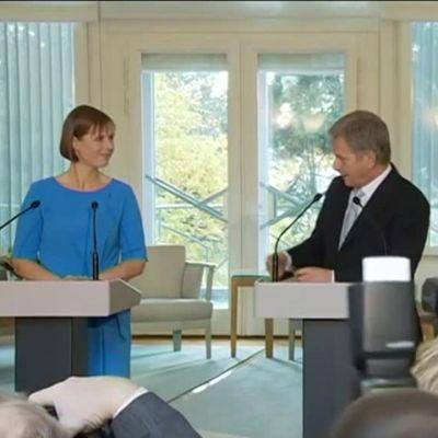 Uutisvideot: Viron uusi presidentti Suomessa – lehdistötilaisuus