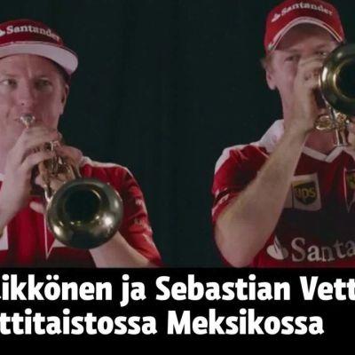 Uutisvideot: Kimi voitti Vettelin trumpetin mitalla