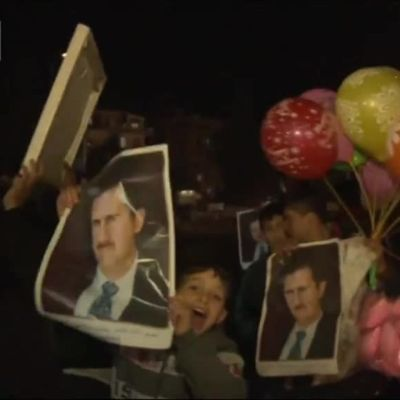 Uutisvideot: Syyrian hallituksen kannattajat juhlivat Aleppon takaisinvaltausta