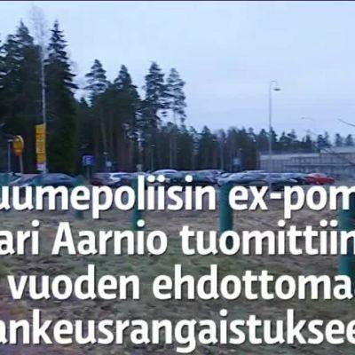 Uutisvideot: Tässä huumepoliisin ex-pomo Jari Aarnio kyyditään vankilaan – video