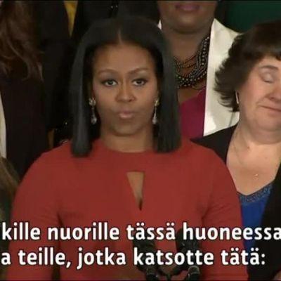 Uutisvideot: Michelle Obama piti tunteikkaan jäähyväispuheen