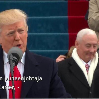 Uutisvideot: Katso Donald Trumpin virkaanastujaispuhe – tekstityksen kera