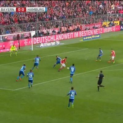 Urheilujuttuja: Bayern nöyryytti HSV:tä: 8–0!