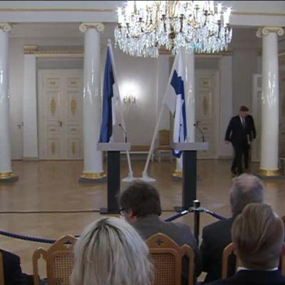 Uutisvideot: Viron presidentti valtiovierailulla Suomessa – Lehdistötilaisuus