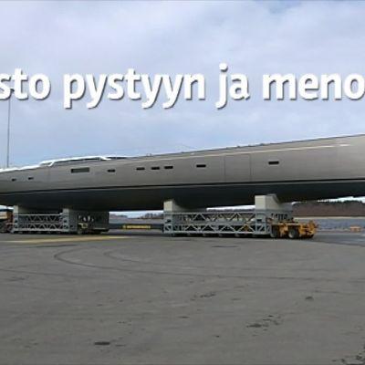 Yle Uutiset Pohjanmaa: Näin kulkee 54-metrinen purjevene maantiellä