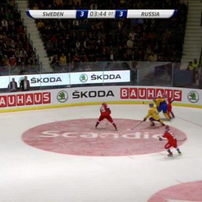 Urheilujuttuja: Ruotsin NHL-tähti upotti Venäjän jatkoajalla - katso ratkaisu