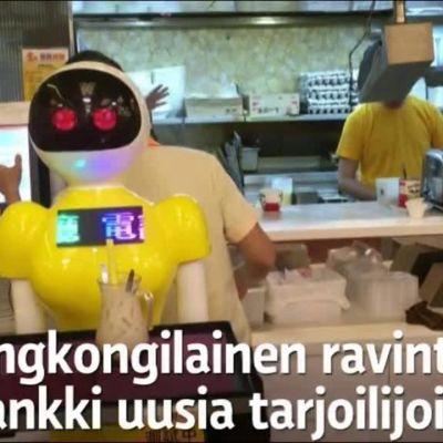 Uutisvideot: Näin robotti tarjoilee Hongkongissa