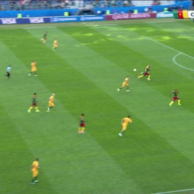 Jalkapallon FIFA Confederations Cup 2017: Maalikooste: Kamerun - Australia
