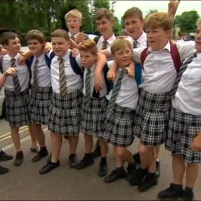Uutisvideot: Brittikoulupojat pukeutuivat hameisiin protestiksi