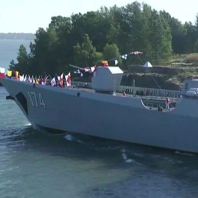 Uutisvideot: Kiinalainen laivasto-osasto seilasi Helsinkiin