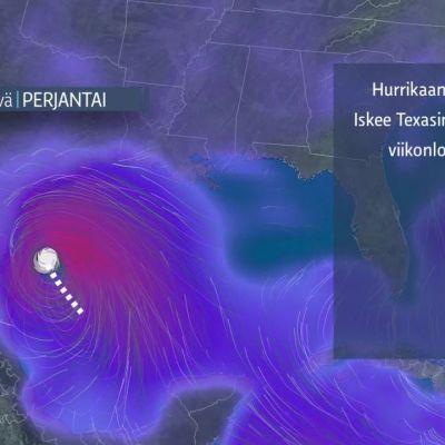 Hurrikaani Harvey rantautuu Teksasiin