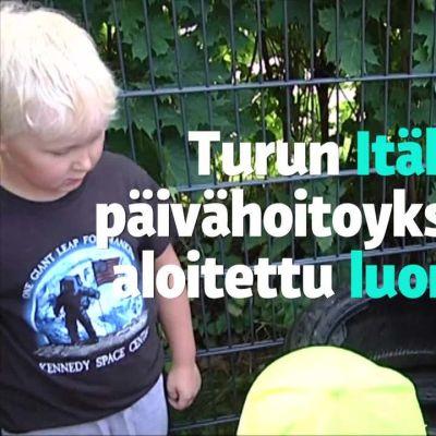 Yle Uutiset Lounais-Suomi: Ulkopäiväkodin lapset saivat luontoeskarin Turussa