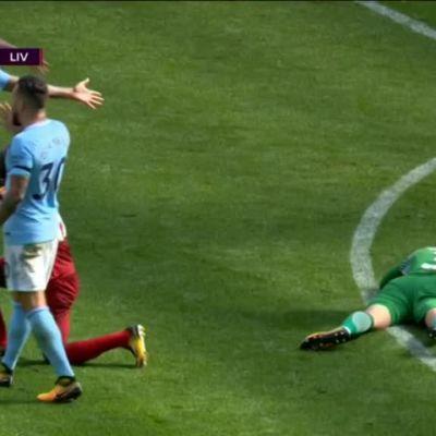 Valioliiga: Karmea loukkaantuminen Manchester City -maalivahdille – Liverpool-tähti ajettiin ulos