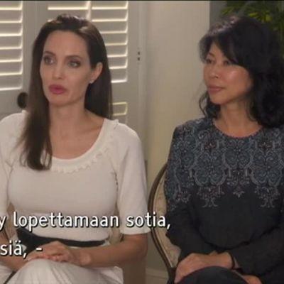 Ylen aamu-tv: Angelina Jolie haastattelussa