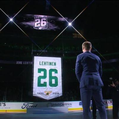 NHL: Lehtisen paita nousee kattoon