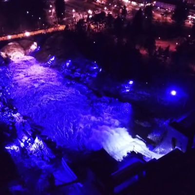 Uutisvideot: Imatrankoski sai upean valaistuksen itsenäisyyspäivänä