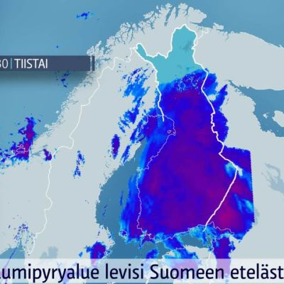 Voimakas matalapaine liikkuu Suomen yli pohjoiseen