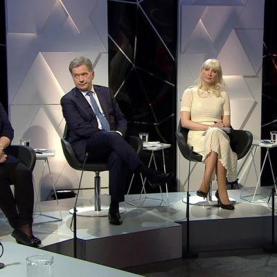 Ylen aamu-tv: Presidenttiehdokkaiden loppukiri