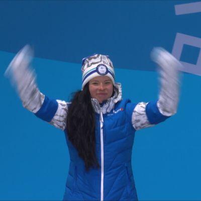 Korean olympialaiset: Krista Pärmäkoski sai yhdistelmäkisan pronssimitalinsa