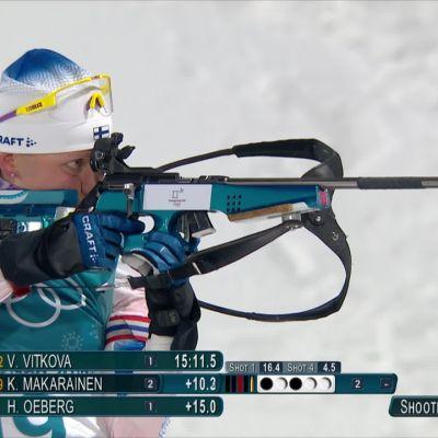 Korean olympialaiset: Mäkäräinen oli vaikeuksissa pikamatkalla