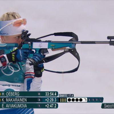 Korean olympialaiset: Kaisa Mäkärinen ampui kolme ohilaukausta normaalikisassa