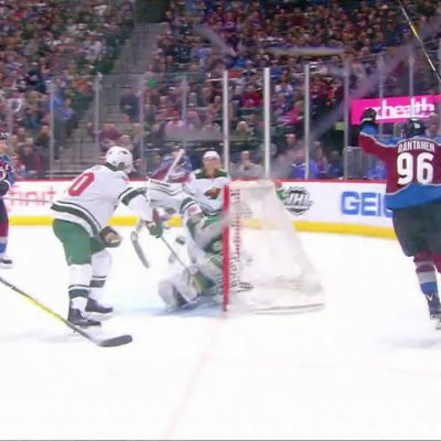 NHL: Rantanen vietti neljän tehopisteen iltaa, Colorado murskasi Minnesotan