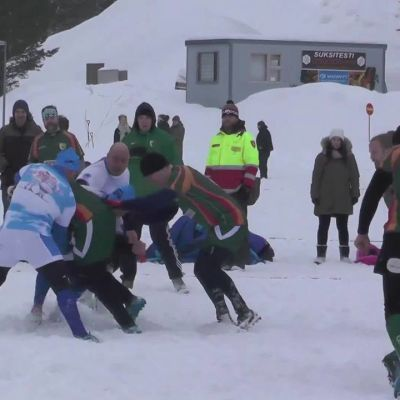 Yle News: Snow-powered rugby in Central Finland