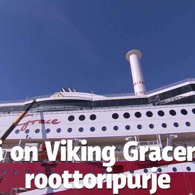 Uutisvideot: Viking Gracen uusi roottoripurje