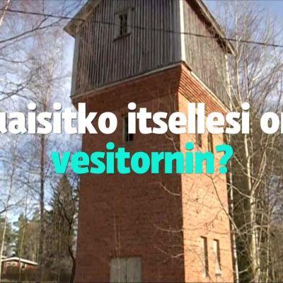 Uutisvideot: Pomarkussa vesitorni myytävänä