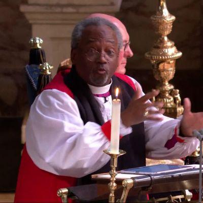 Piispa Michael Curryn eloisa saarna prinssi Harryn ja Meghan Marklen häissä