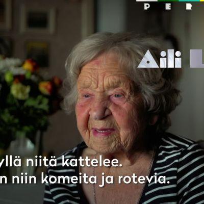 """103-vuotias Aili jalkapallon MM-kisoista: """"Ihania miehiä!"""""""