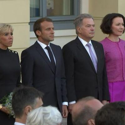 Ranskan presidentti Emmanuel Macron saapui Helsinkiin