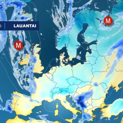 Ennusteanimaatio Euroopan alueelle