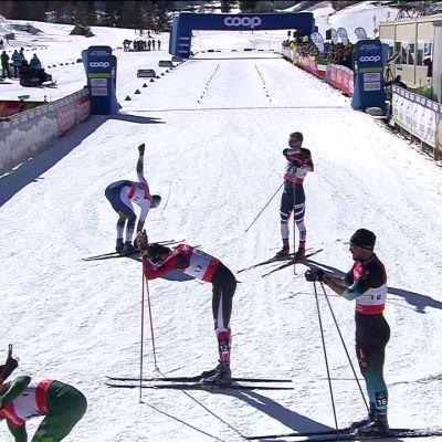 Hurjaa kolarirallia Cognen sprintissä – venäläistähdille kävi köpelösti