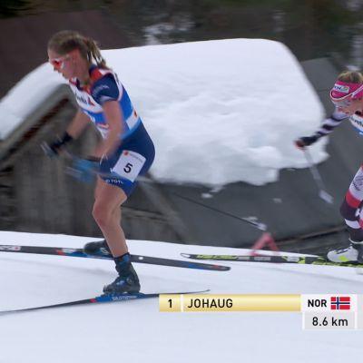"""Käyhän se näinkin – Jessica Diggins hiihtää """"kesäasussa"""" sääret paljaana"""