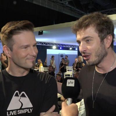 """Darude ja Sebastian Rejman tsemppifiiliksissä Euroviisujen semifinaaliin: """"Kuntohuippu on noussut koko ajan!"""""""