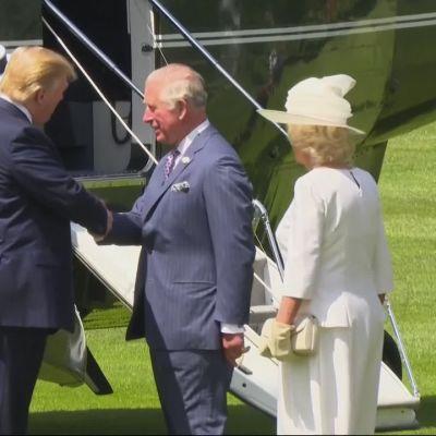 Trump aloitti valtiovierailun Britanniaan