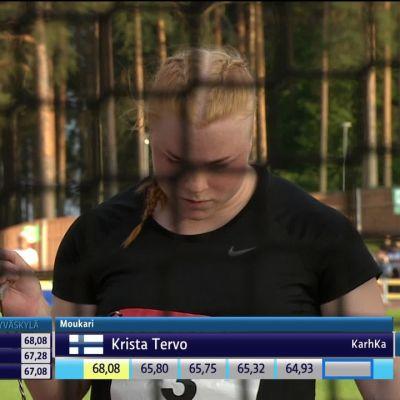 Krista Tervo laittoi moukarin Suomen ennätyksen uusiksi