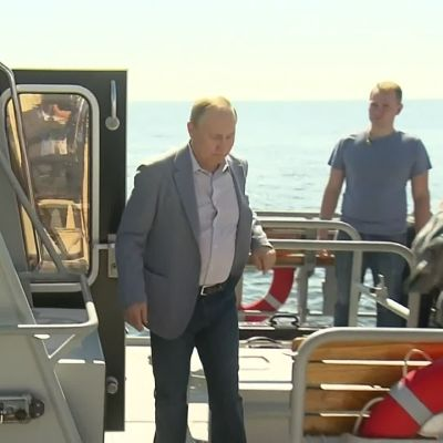 Venäjän presidentti tarkastelee Suomenlahden tilaa