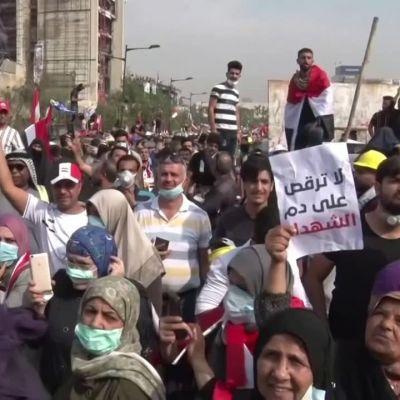 protester i Irak