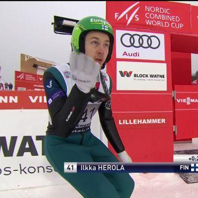 Ilkka Herolalta hieno parannus Lillehammerissa