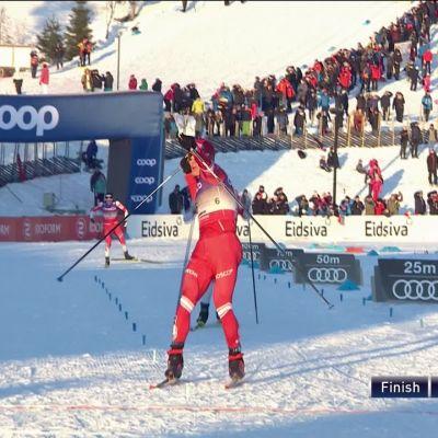 Norja on lyöty! Venäläinen Bolshunov juhli Lillehammerissa