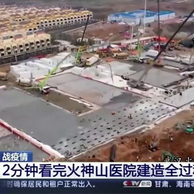 Kiina rakensi koronasairaalan kahdeksassa päivässä