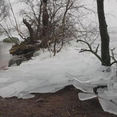 """Helisevä jäälauttojen maihinnousu kruunasi Teija Kirkkalan reippailun Pyhäjärven rannalla: """"Kuin luontoäiti olisi pessyt astioitaan"""""""