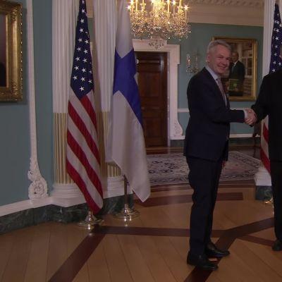 Suomen ja Yhdysvaltain ulkoministerit tapasivat Washingtonissa