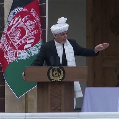 Afganistanin presidentin virkaanastujaisissa räjähdyksen ääniä